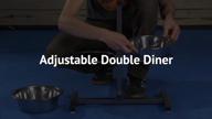 Adjustable Double Diner Elevated Dog Feeder